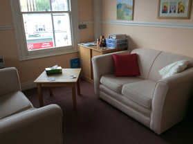 My counselling room at The Bridge in Andover